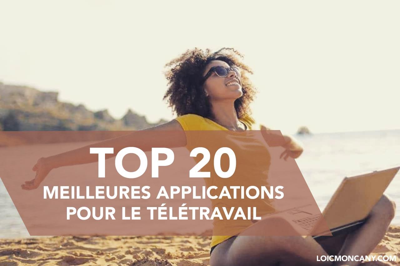 Top 20 des applications dédiées au télétravail